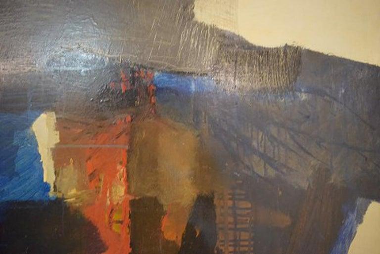 Modern Eric Göran Gustavsson, Swedish Artist, Oil on Board, Abstract Landscape For Sale