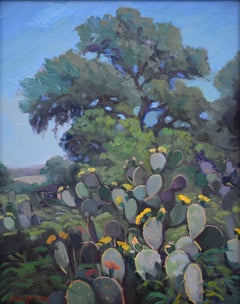 """""""Blooming Cactus"""" Prickley Pear Cactus Texas Hill Country"""