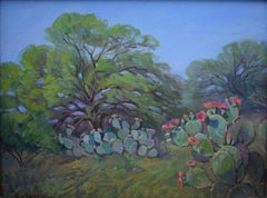 """""""Cactus and Mesquite"""" Prickley Pear Cactus Texas Hill Country"""