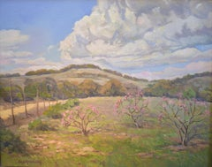 """Orchard in March"" Texas Hillcountry Landscape"