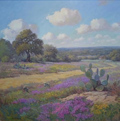 """Verbena Spring"" Texas Hillcountry Floral Wildflower Landscape"