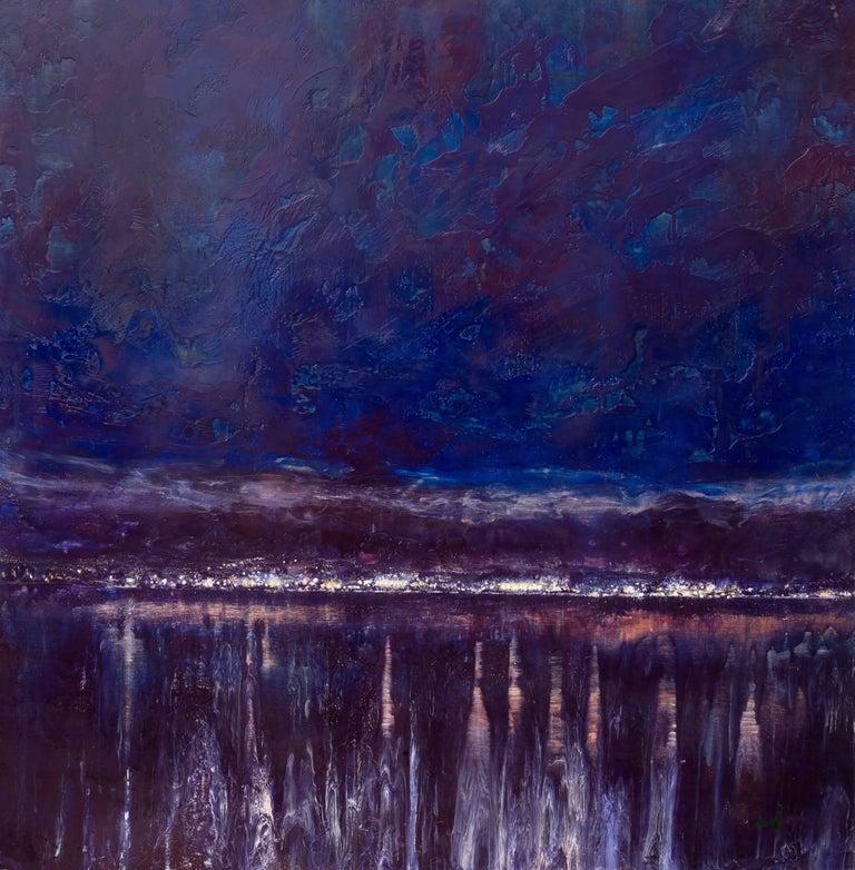 Eric Hesse Landscape Painting - Spirit on the Water (Sodium Vapor)
