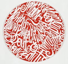Breakout, Eric Inkala Street Art Graffiti Round Red White Round