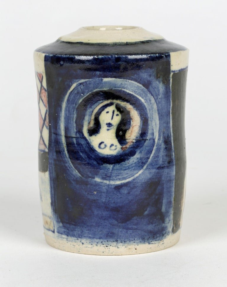 Eric James Mellon Studio Pottery Ash Glazed Vase with Nudes For Sale 2