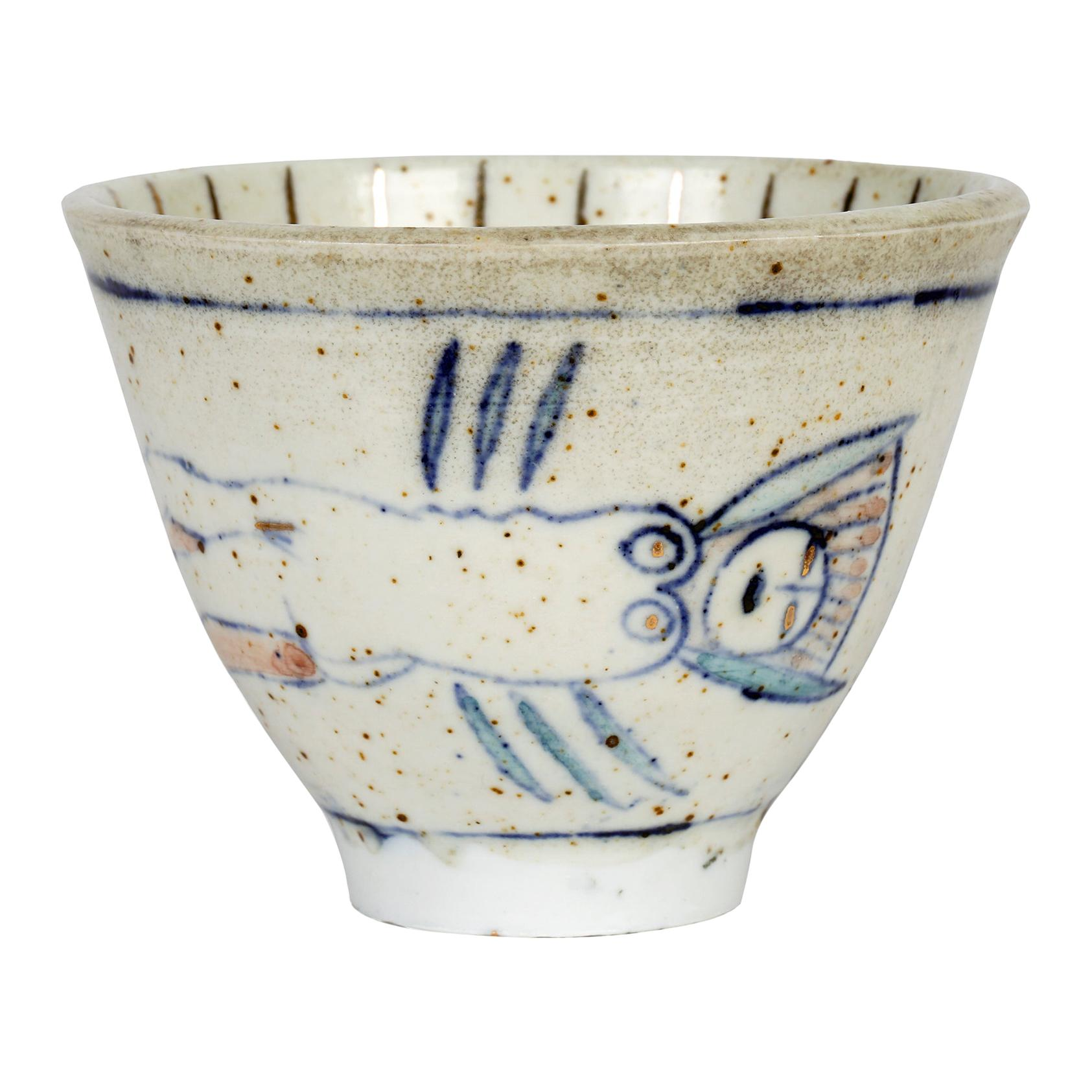 Eric James Mellon Studio Pottery Bowl Painted with Nude