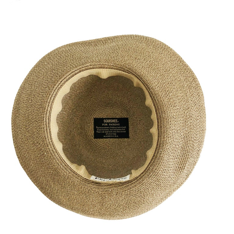 Eric Javits New York Squishee Sun Hat Beach Travel OS For Sale 4