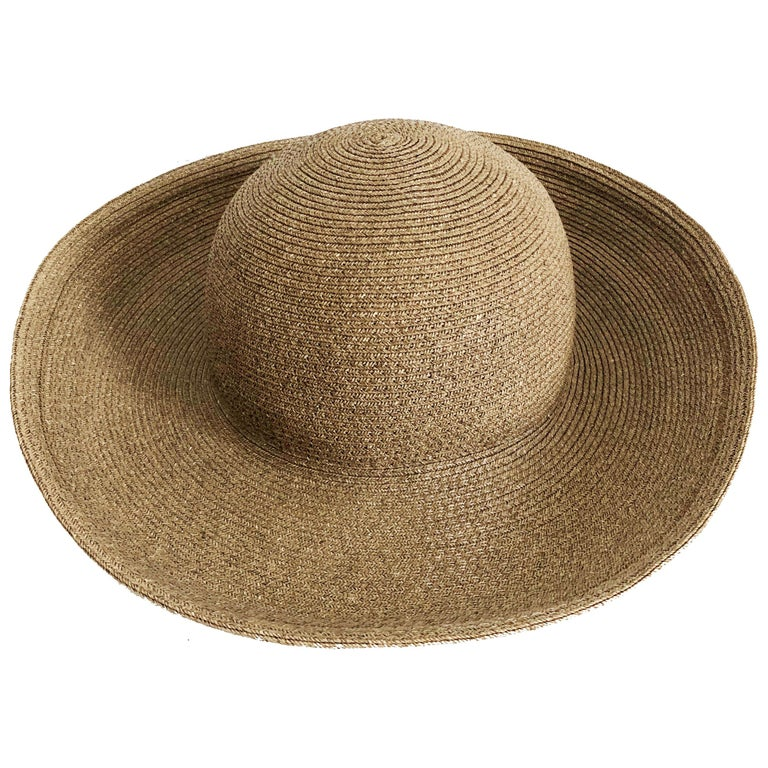 Eric Javits New York Squishee Sun Hat Beach Travel OS For Sale