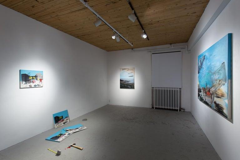 Clair de lune déchirant - Contemporary Painting by Eric Lamontagne