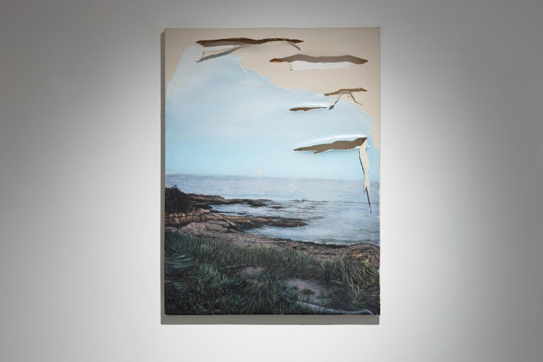 Eric Lamontagne Landscape Painting - Clair de lune déchirant