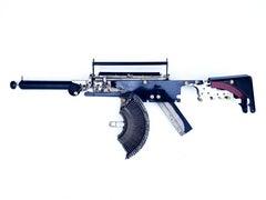 Remington-Trilogy I - black, Vintage Typewriter Machine Gun, wall sculpture
