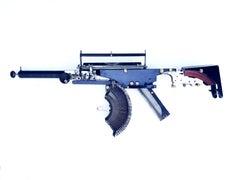 Remington-Trilogy III - black, Vintage Typewriter Machine Gun, wall sculpture