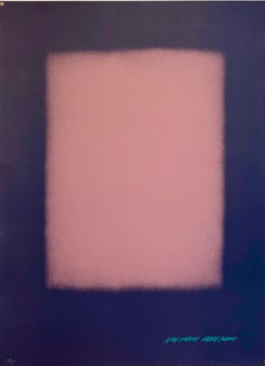 Abstract Color Field Gradient Lithograph Eric Orr Poligrafia Barcelona LA Artist