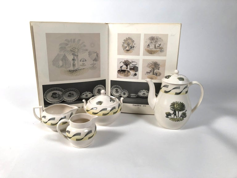 Eric Ravilious Garden Series Coffee Service for Wedgwood 4