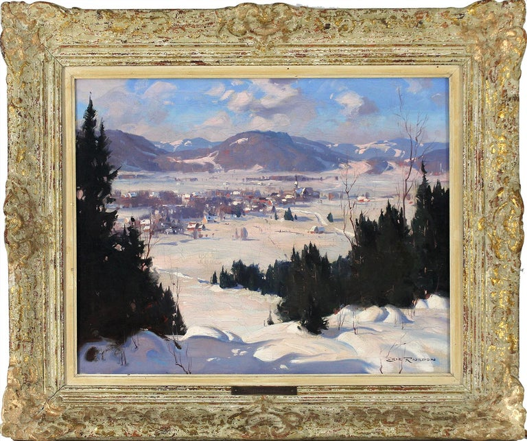 Winter  Landscape - Painting by Eric Riordon