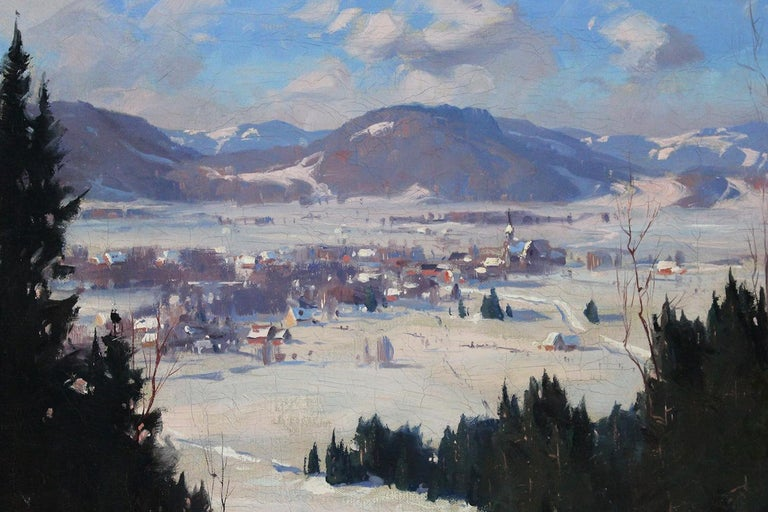 Winter  Landscape - Naturalistic Painting by Eric Riordon