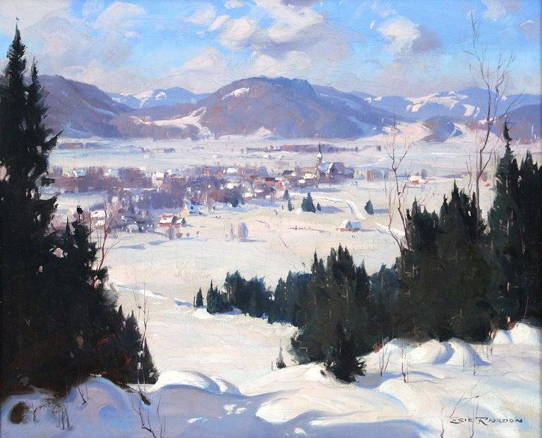 Eric Riordon Landscape Painting - Winter  Landscape