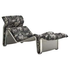 Eric Sigfrid Persson Danish Chaise Lounge in Rare Fabric