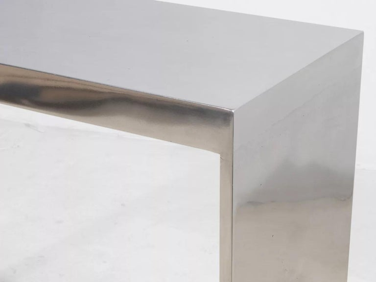 Modern Eric Slayton Cast Aluminium Console Table, Cast Series, 2021 For Sale