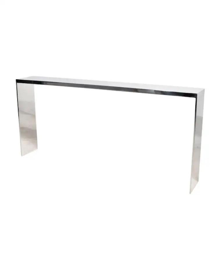 American Eric Slayton Cast Aluminium Console Table, Cast Series, 2021 For Sale