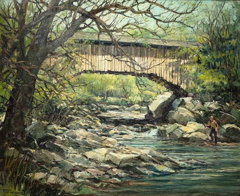 Eric Sloane Landscape Painting - Spring in Cambridge, Vermont