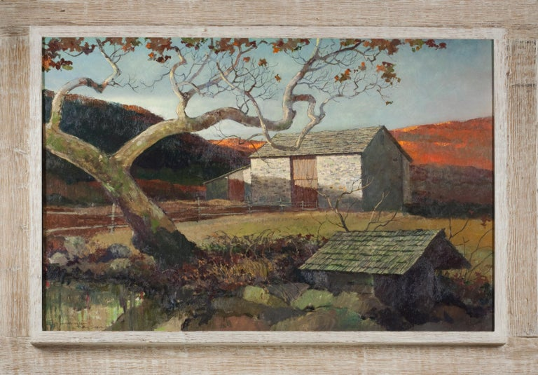 Eric Sloane Stone Barn Painting For Sale At 1stdibs