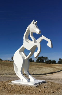 Large Rearing Horse by Eric Valat - Animal sculpture, Outdoor sculpture
