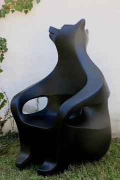 Small bear armchair by Eric Valat - Functional Sculpture, Polyester