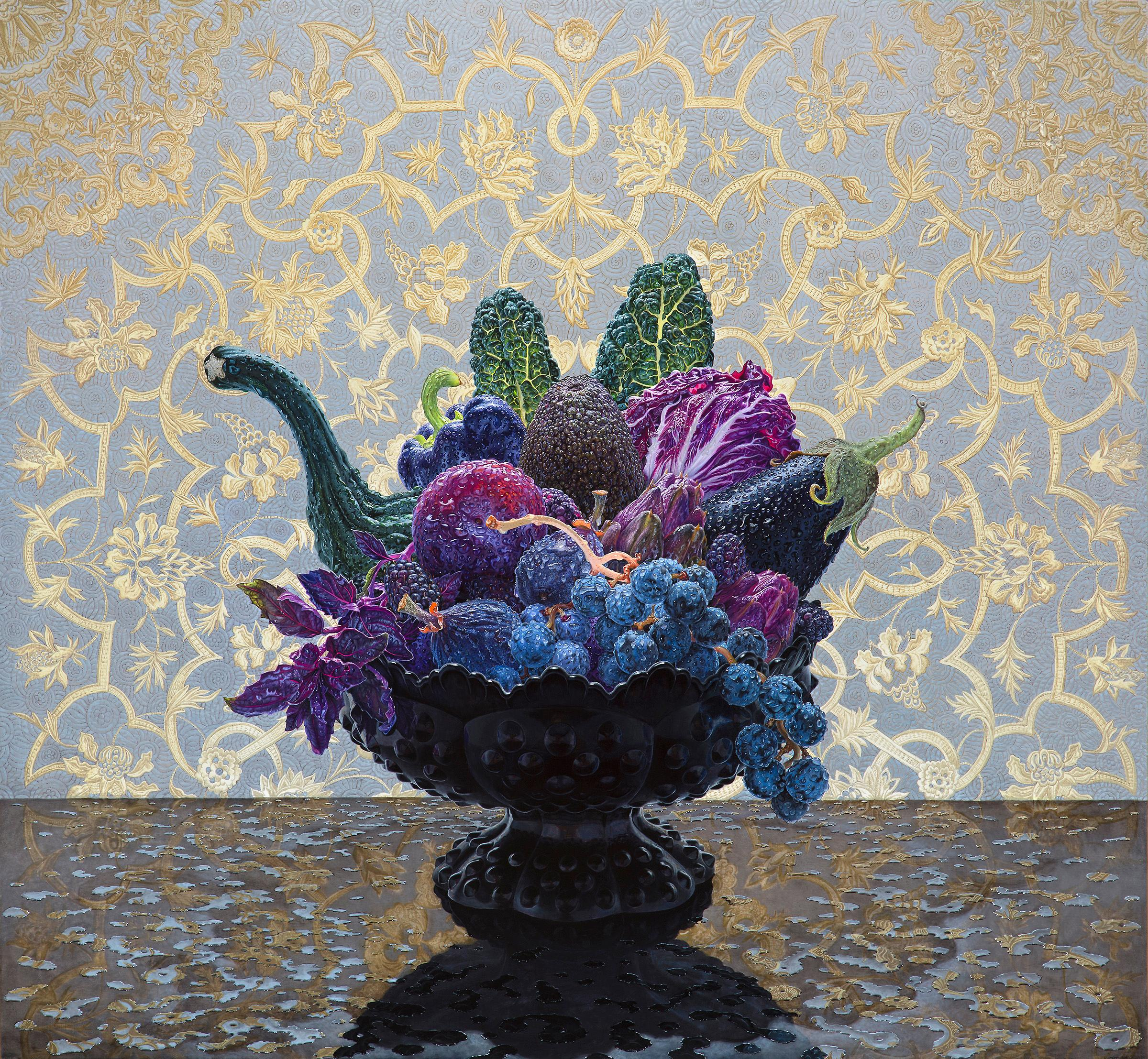 Dark Still Life, Contemporary Still Life, Fruit, Vegetables, Wallpaper