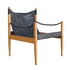 Eric Wørts Black Safari Chair for Niels Eilersen, Denmark