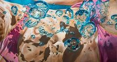 EPHEMERA II, Swimmer, Bubbles, Blue, Ocean, Bathing Suit, Swimming, Photorealism