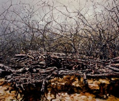 Gentle Surrender, Contemporary Realism, Landscape, Nature, Earth Tones