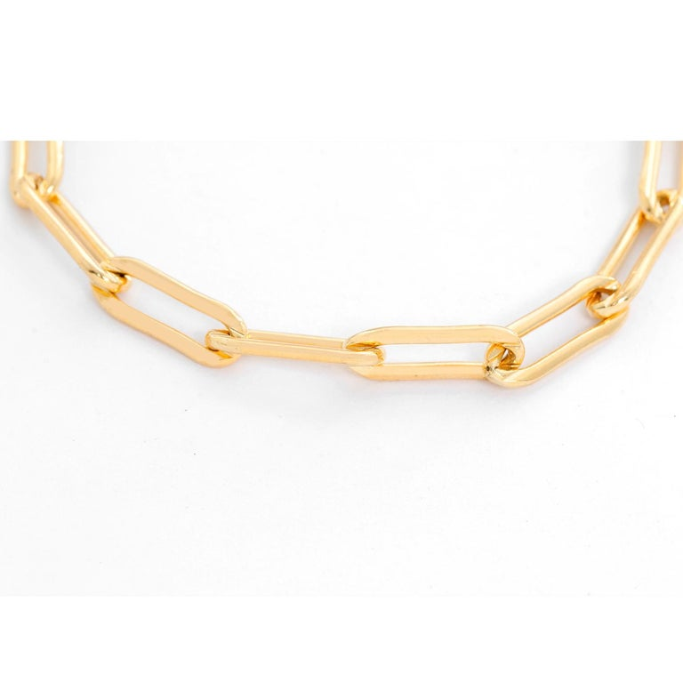 Erica Kleiman Gold Filled Paper Clip Chain Bracelet  - Gold filled paper clip cable link chain bracelet. Length size 7 inches. Can be sized down.  Perfect for layering or worn alone. Total weight 6.8 grams .