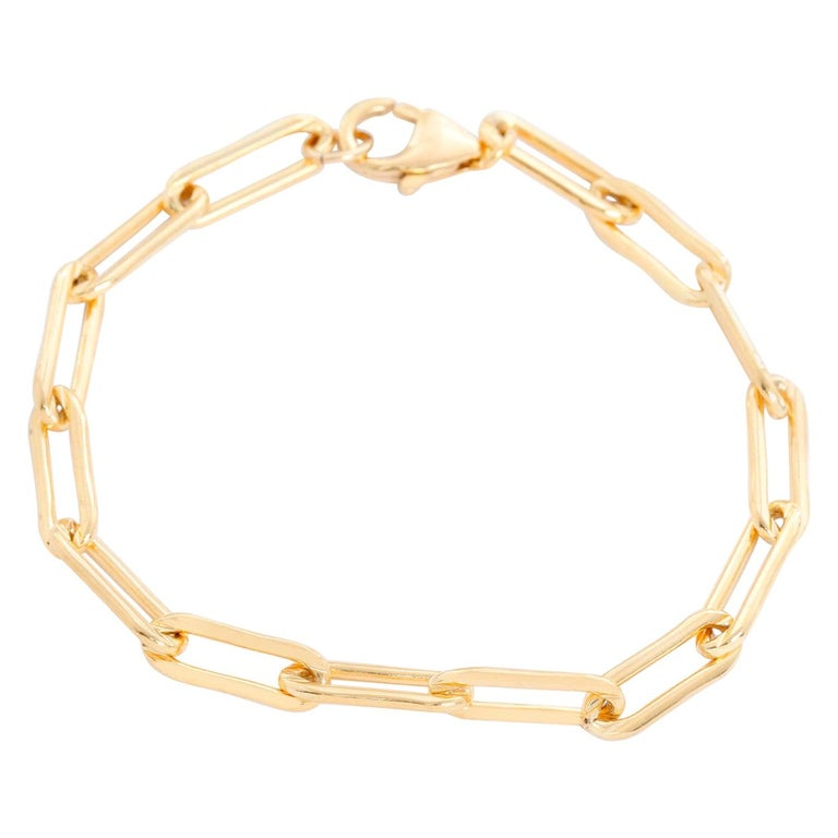 Erica Kleiman Gold Filled Paper Clip Chain Bracelet For Sale