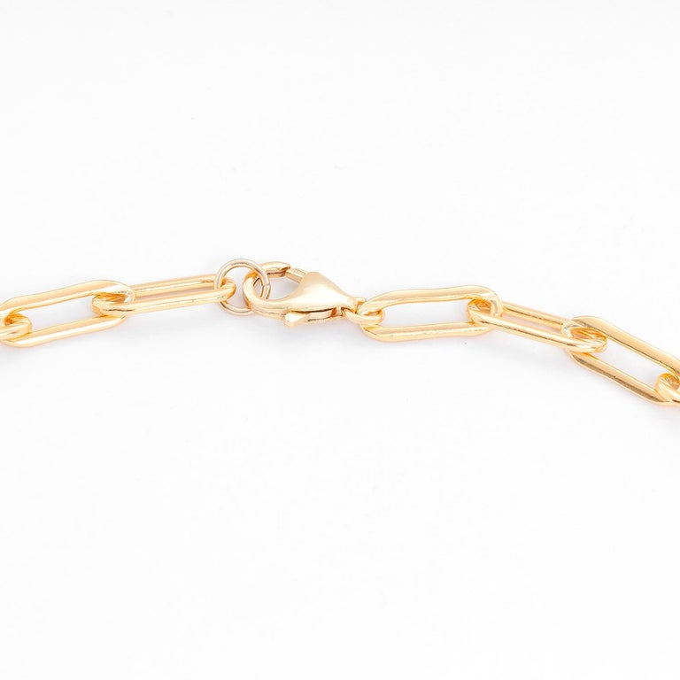Erica Kleiman Gold Filled Paper Clip Chain Necklace In New Condition For Sale In Dallas, TX