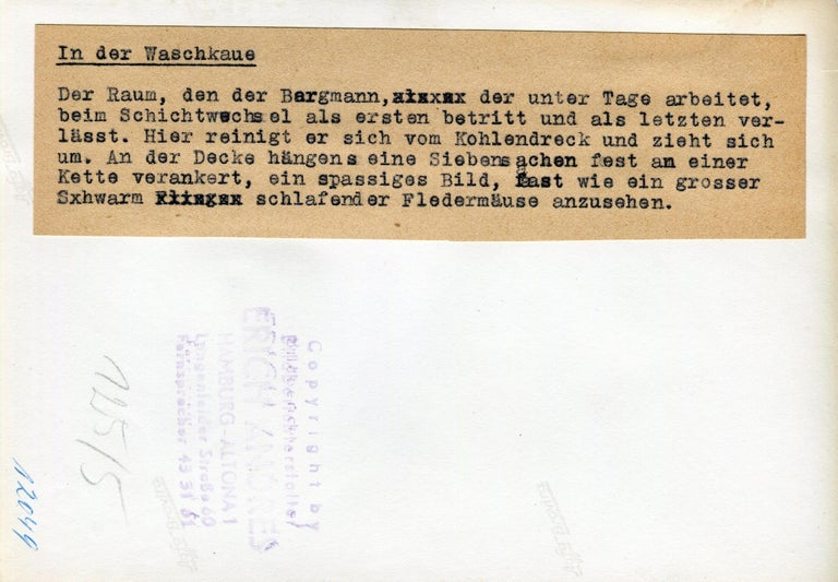 Change and wash house, Essen, Germany 1952 For Sale 3
