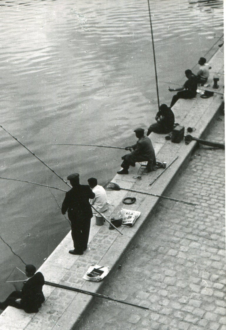 Paris, Seine, Fisher in the morning, 1955 For Sale 1