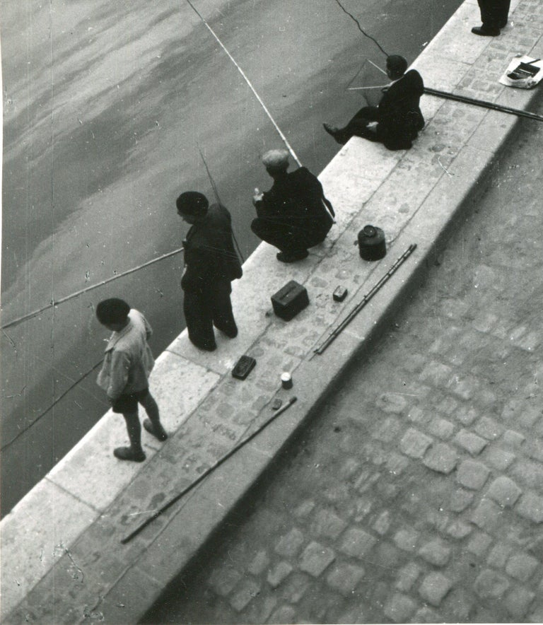 Paris, Seine, Fisher in the morning, 1955 For Sale 2