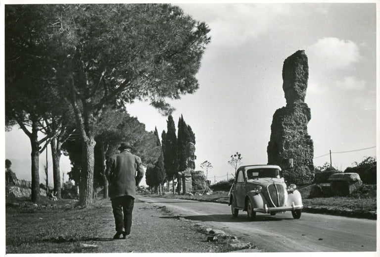 Erich Andres Black and White Photograph - Rome - Via Appia 1954