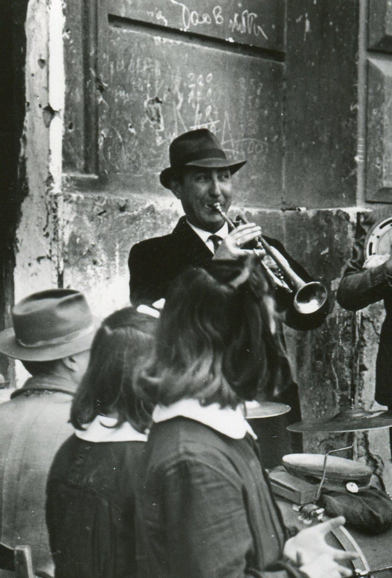 Street musicians Naples 1955 - Photograph by Erich Andres