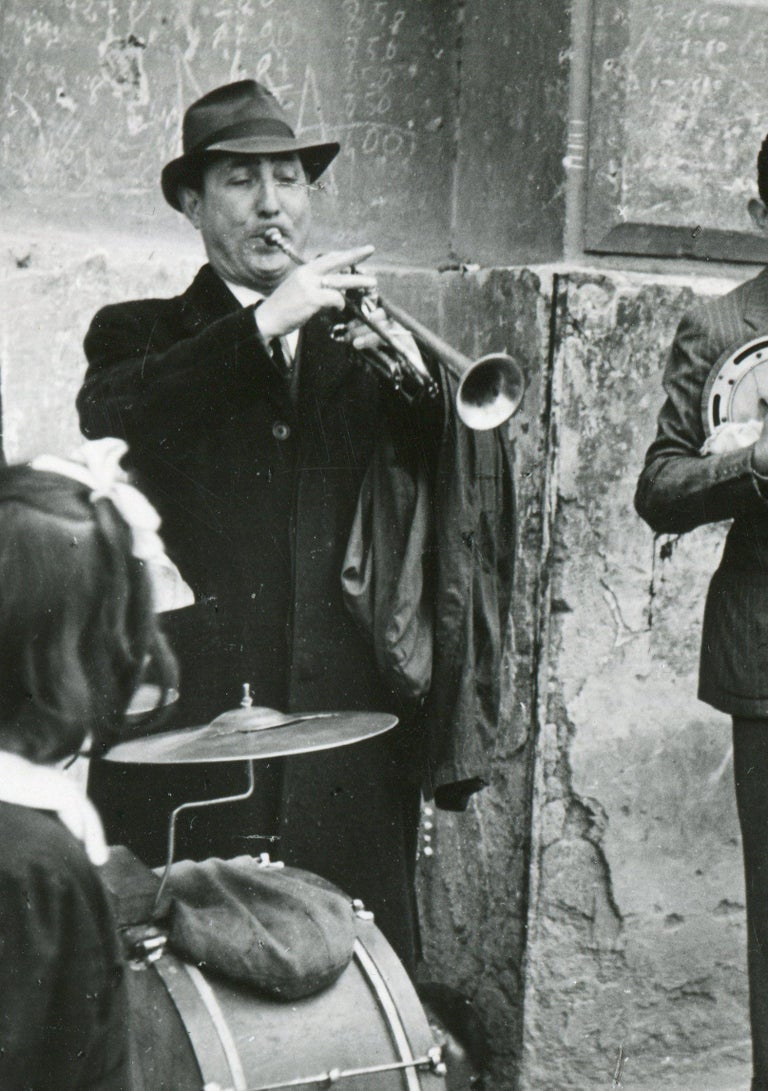 Street musicians Naples 1955 - Modern Photograph by Erich Andres
