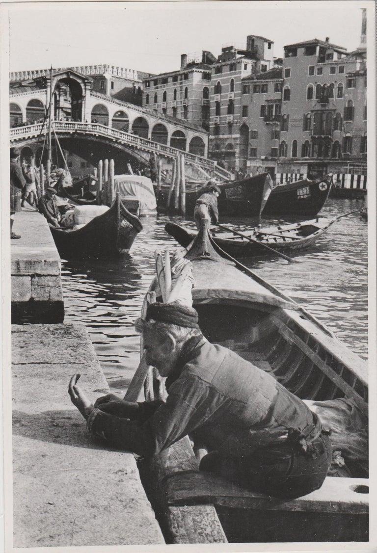 Erich Andres Black and White Photograph - Venice - Canale Grande with Rialto Bridge