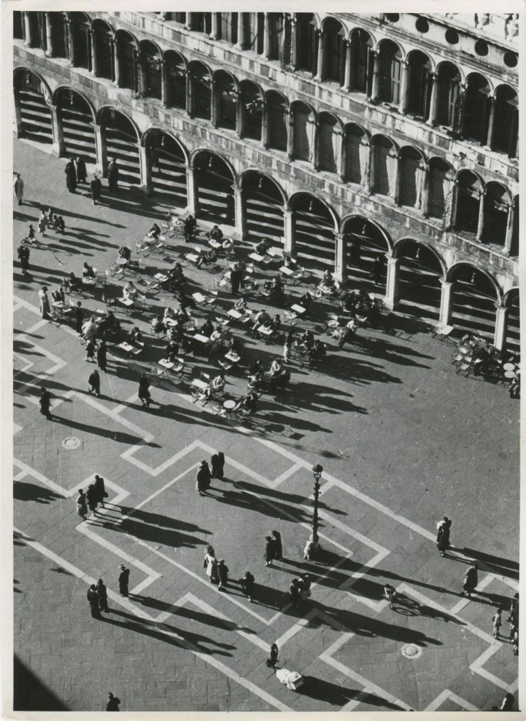 Erich Andres Black and White Photograph - Venice - St. Mark's Square 1954