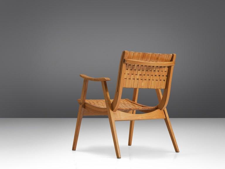 German Erich Dieckmann Bauhaus Armchair For Sale