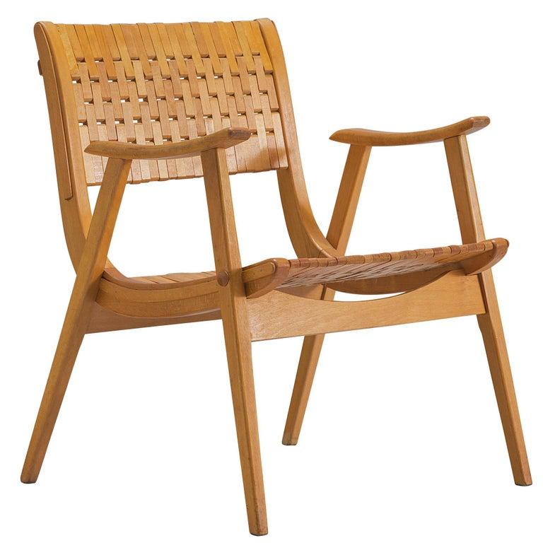 Beech Erich Dieckmann Bauhaus Armchair For Sale
