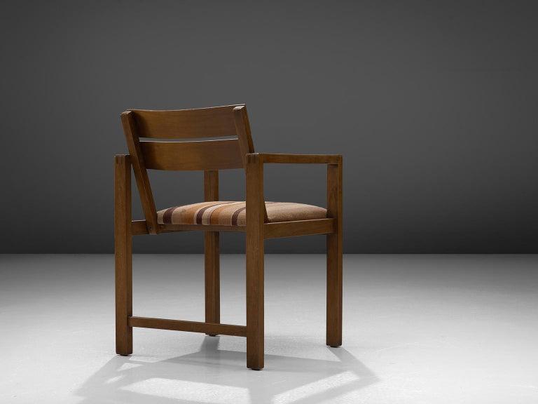 Erich Dieckmann Bauhaus Armchair of Walnut, 1930s In Good Condition For Sale In Waalwijk, NL