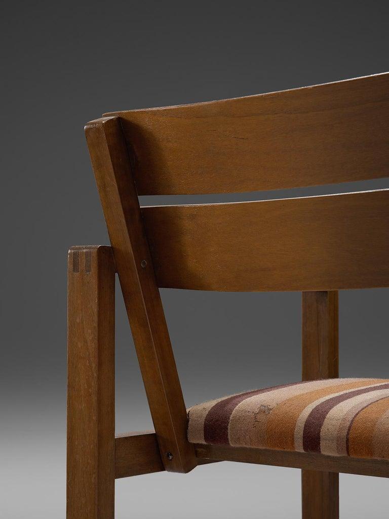 Mid-20th Century Erich Dieckmann Bauhaus Armchair of Walnut, 1930s For Sale