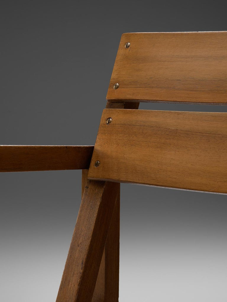 Erich Dieckmann Bauhaus Armchair of Walnut, 1930s For Sale 2