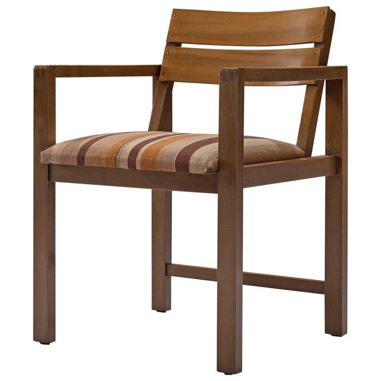 Erich Dieckmann Bauhaus Armchair of Walnut, 1930s For Sale