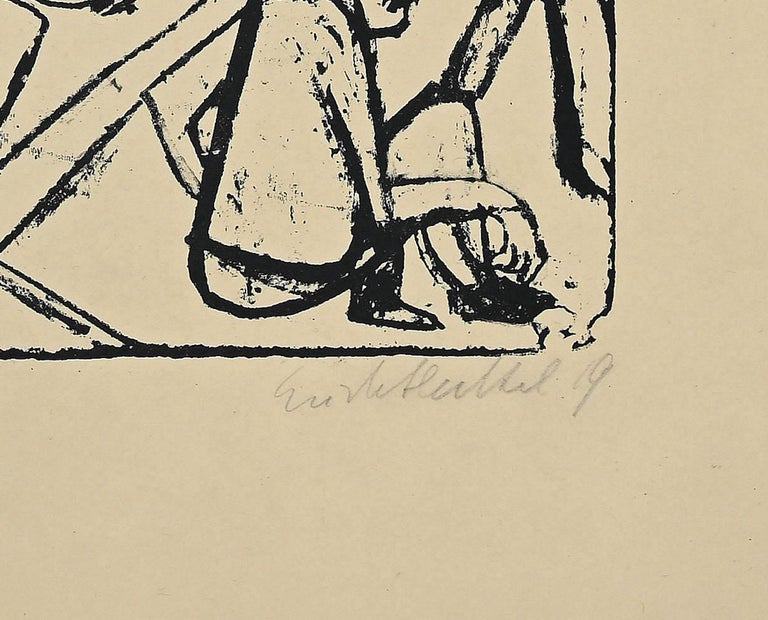 The Brothers Karamazov - Original Lithograph by E. Heckel - 1919 - Print by Erich Heckel
