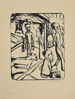 The Brothers Karamazov - Original Lithograph by E. Heckel - 1919